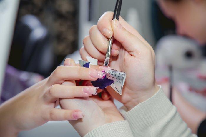 Manicure in a beauty salon, master class, body care