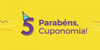 ANIVERSÁRIO DO CUPONOMIA CUPONS DE DESCONTO
