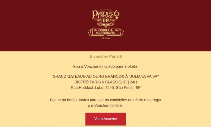promoção sobremesa grátis no Paris 6