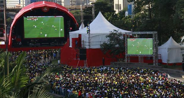 Vale do Anhangabaú é opção entre lugares para assistir os jogos da Copa do Mundo em SP