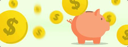 Imagem de um cofre com várias moedas ao redor