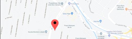 Localização do escritório em SJC