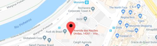 Localização do escritório em SP