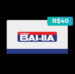 Créditos de R$40 nas Casas Bahia