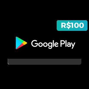 Créditos de R$100 na Google Play