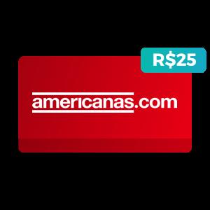 Créditos de R$25 na Americanas.com