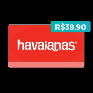 Créditos de R$39,90 na Havaianas