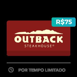 Créditos de R$75 no Outback