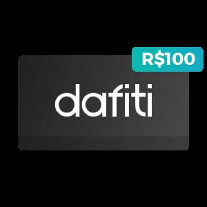 Cartão de R$100 na Dafiti