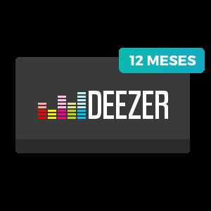 12 meses de Deezer Premium+
