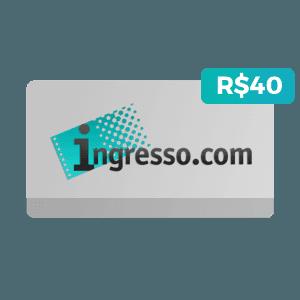 Cartão da Ingresso.com de R$40