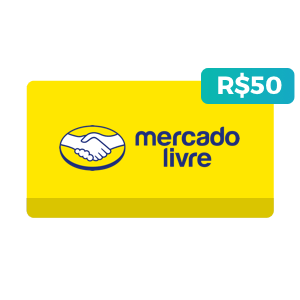 Créditos de R$50 no Mercado Livre