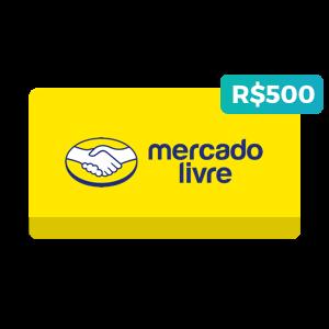 Créditos de R$500 no Mercado Livre
