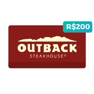 Créditos de R$200 no Outback