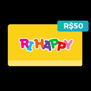 Créditos de R$50 na Ri Happy