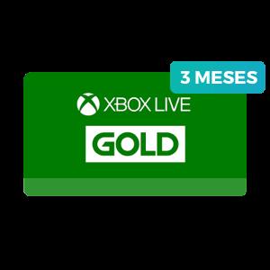 3 meses no Xbox Live Gold